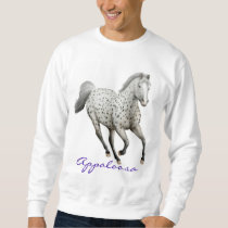 Leopard Appaloosa Horse Customizable Sweatshirt