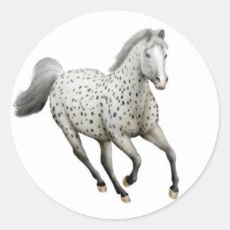 Leopard Appaloosa Horse Galloping Sticker