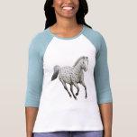 Leopard Appaloosa Horse Raglan Jersey Tshirt