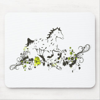Leopard Appaloosa with Floral Print Mouse Pad