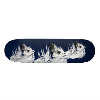 Leopard Appaloosa with White Feathers Skateboard