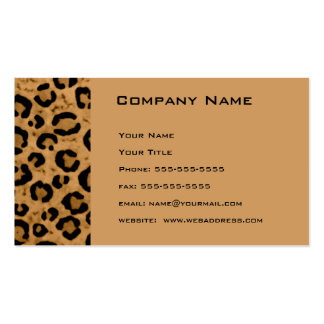 Leopard Appointment Reminder Card Double-Sided Standard Business Cards (Pack Of 100)