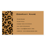 Leopard Appointment Reminder Card Business Card Template