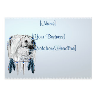 Leopard Appy and Dreamcatcher chubby profile ca... Large Business Cards (Pack Of 100)