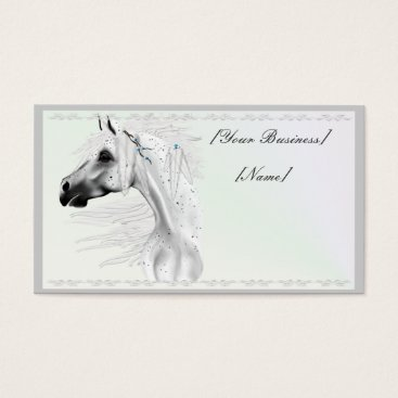 Professional Business Leopard Appy and White Feathers Business Card
