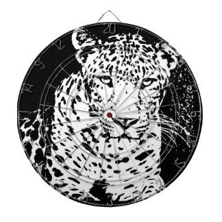 Leopard  Art 4 Dartboard With Darts