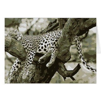 Leopard Art Design. The free sleeping cute Cat Card