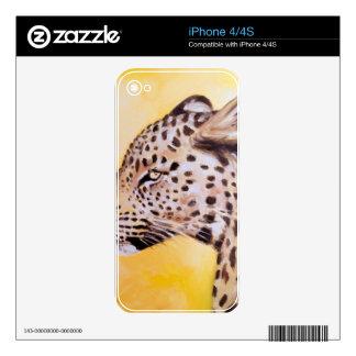 Leopard Art iPhone 4 Decal