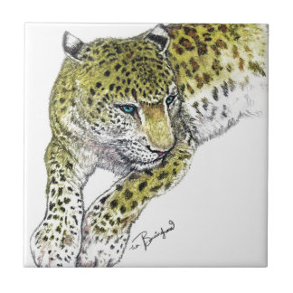 Leopard Art Print Ceramic Tile
