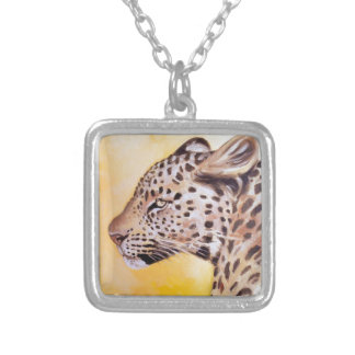 Leopard Art Silver Plated Necklace