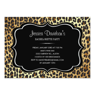 Leopard Bachelorette Party Invitations