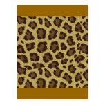 Leopard Background Postcards