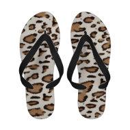 Leopard Beige Black Animal Print Sandals
