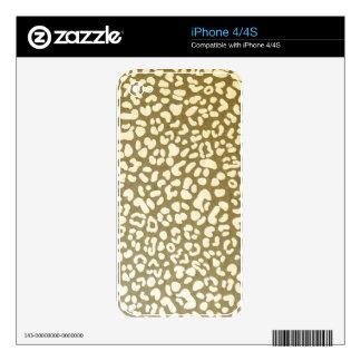 Leopard Beige Pattern iPhone 4 Skin