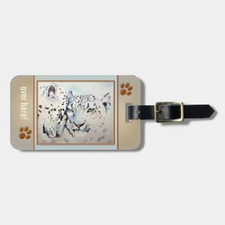 Leopard Big Cat Love Luggage Tag