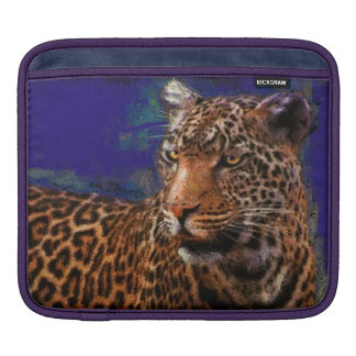 Leopard Big Cat Wildlife Fine Art iPad Sleeve