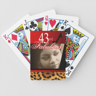 Leopard Birthday Party Photo Deck Of Cards