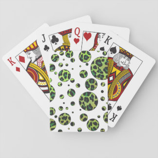 Leopard Black and Green Print Deck Of Cards