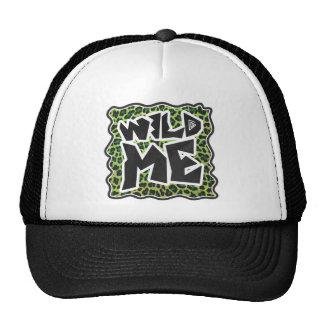 Leopard Black and Green Print Trucker Hat