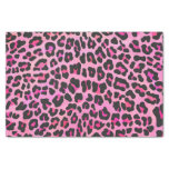"Leopard Black and Hot Pink Print 10"" X 15"" Tissue Paper"