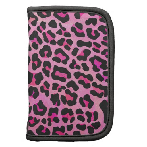 Leopard Black and Hot Pink Print Organizers