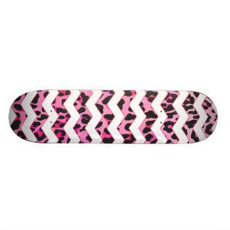 Leopard Black and Hot Pink Print Skate Decks