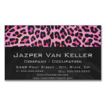 Leopard Black and Hot Pink Print Magnetic Business Cards (Pack Of 25)