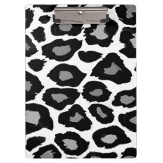 Leopard - Black and White Clipboard