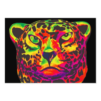 Leopard - Black Back, Rainbow Style Card