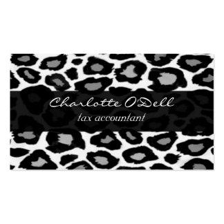 leopard; black business card template