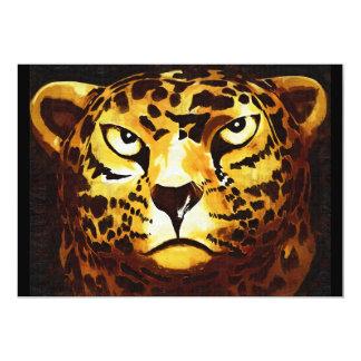 Leopard - Black, Gothic Style (l4goth) Card