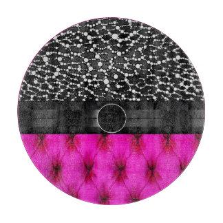 Leopard Bling Pink Cushion Monogram Cutting Boards