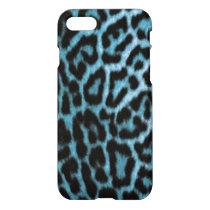 Leopard Blue Black Animal Pattern Print iPhone 8/7 Case