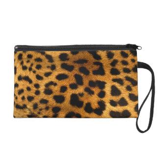 Leopard Body Fur Skin Case Cover Wristlet