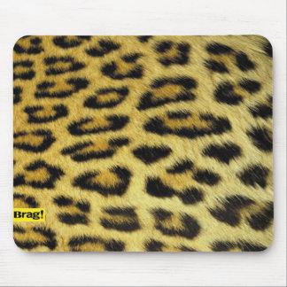 leopard , brag mouse pad