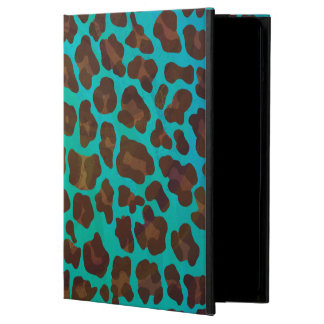 Leopard Brown and Teal Print Cover For iPad Air