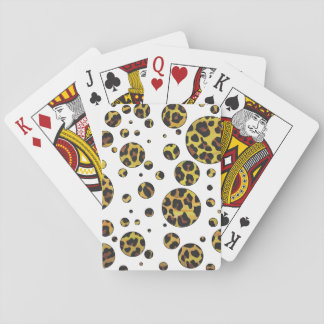 Leopard Brown and Yellow Print Poker Cards