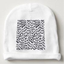 Leopard Brush Stroke Pattern Baby Beanie