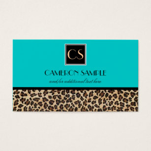Leopard business cards 1800 leopard business card templates leopard business card colourmoves Image collections