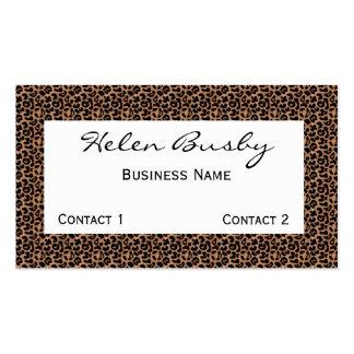 Leopard Business Card