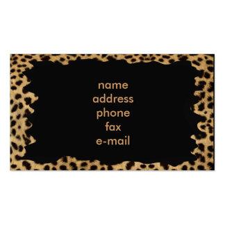 leopard business card templates