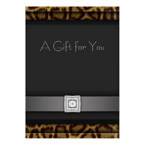 Leopard Business Gift Certificate Gift Cards Business Card Templates