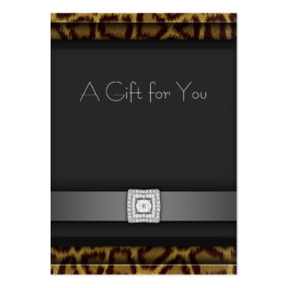 Leopard Business Gift Certificate Gift Cards Large Business Cards (Pack Of 100)