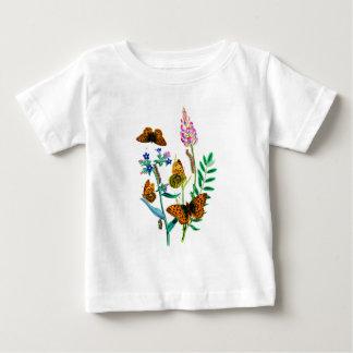 Leopard Butterflies & Caterpillar and WIldflowers Shirt