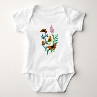 Leopard Butterflies & Caterpillar and WIldflowers Tee Shirt
