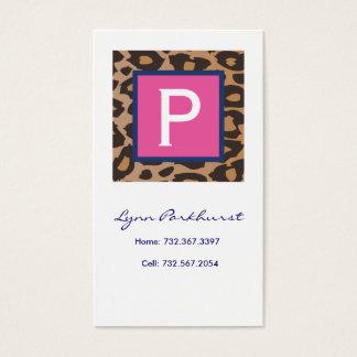Leopard Calling Card