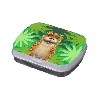 Leopard Cartoon Children's Jungle Cat Fun Tin Jelly Belly Tin