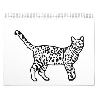 Leopard cat calendar