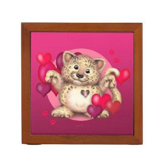 LEOPARD CAT LOVE  Desk Organizer