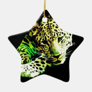 Leopard Ceramic Ornament